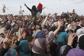Benghazi est devenue le cœur symbolique de la révolution dans ce pays d'Afrique du Nord, alors la bataille pour la conquête de sa garnison militaire a été la clé de l'insurrection. . (Photo : www.info-palestine.net)