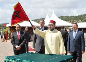 S.M. le Roi lance à Agadir les travaux de construction d'un barrage sur l'oued Ghazoua, pour un coût de 45 MDH