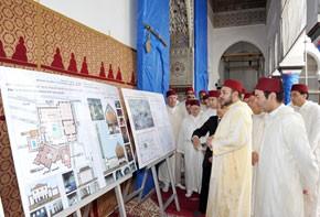 S.M. le Roi Mohammed VI examine le projet de restauration du Mausolée Moulay Idriss Al-Azhar, d'un coût global de 52,5 MDH