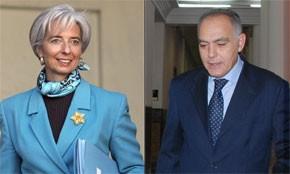 Le Maroc soutient la candidature de Lagarde