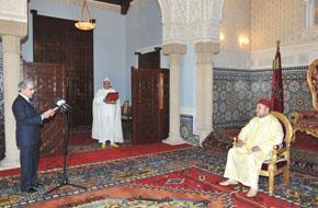 S.M. le Roi reçoit wali Bank Al-Maghrib
