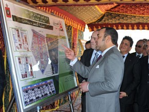 S.M. le Roi lance à Mediouna les travaux  de réalisation du projet immobilier «Al-Hamd»,  d'un coût global de 316 MDH