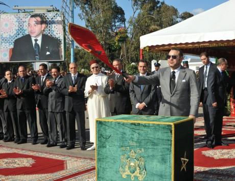S.M. le Roi inaugure le projet de prétraitement et de refoulement des eaux usées de la ville d'El Jadida, d'un coût global de plus de 449,2 MDH