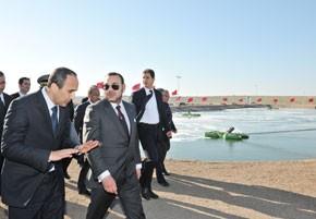 S.M. le Roi inaugure la station d'épuration des eaux usées de la ville de Oualidia, réalisée pour un investissement de 38,2 MDH