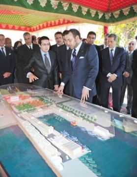 S.M. le Roi Mohammed VI inaugure les nouveaux aménagements du port de pêche d'El Jadida, réalisés pour un investissement de 60 MDH