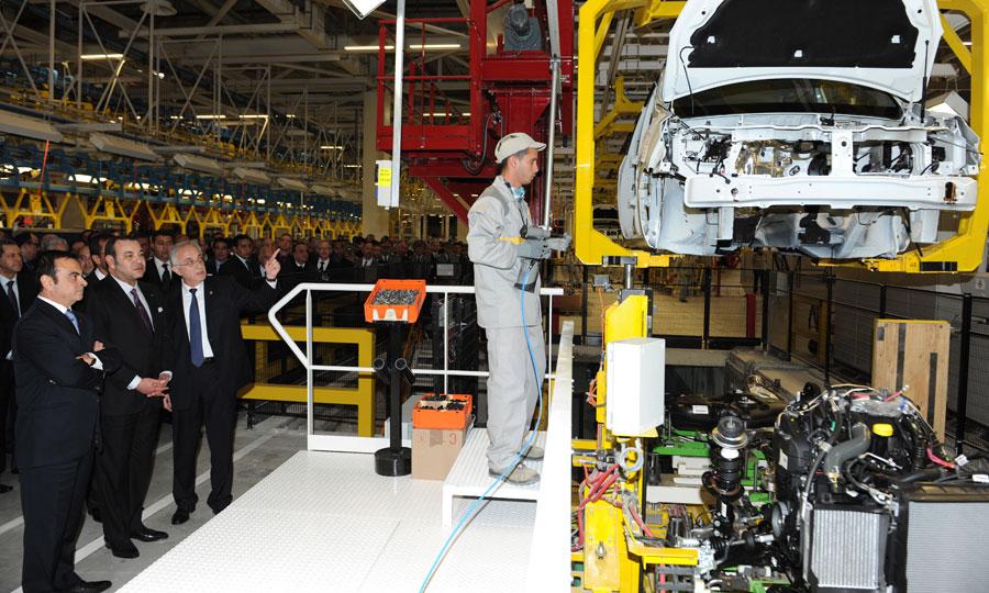 Sa Majesté le Roi Mohammed VI préside la cérémonie d'inauguration de l'usine Renault-Nissan Tanger, mobilisant des investissements  de 1,1 milliard d'euros