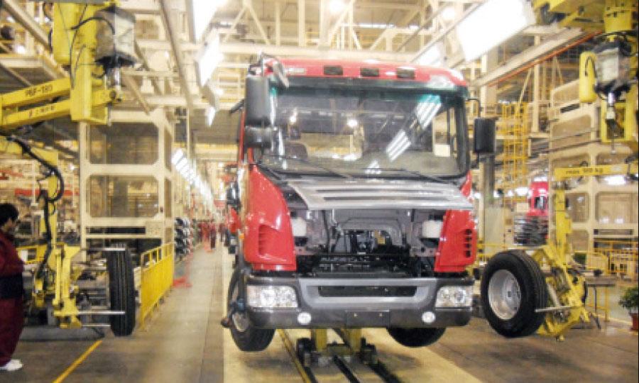 L'usine des camions de JAC Motors à Hefei en Chine.