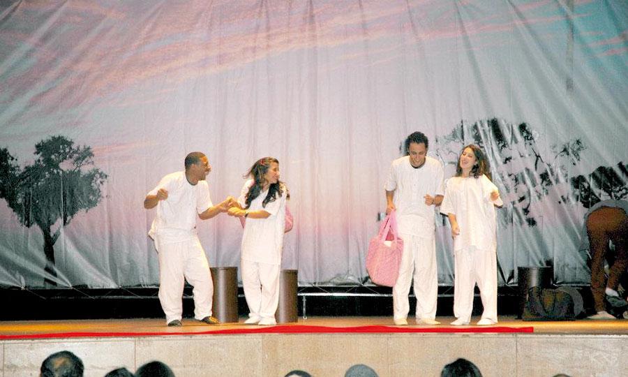 «Baka blassa» a été jouée sur les scènes de la FOL, des Centres culturels Mohammed VI et Mohammed Zefzaf ainsi que le Complexe culturel Moulay Rachid.