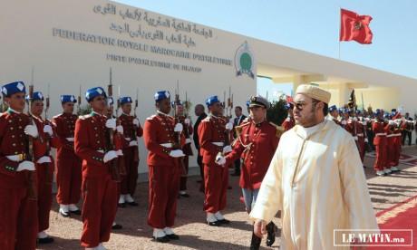 S.M. le Roi, Amir Al Mouminine, inaugure  à Bejaâd l'école «Cheikh Mohamed Al Moata Ibn As-Salih Ach-Charqi»  d'enseignement originel, d'un coût global de près de 14 MDH