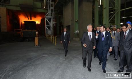 S.M. le Roi inaugure le complexe sidérurgique «Maghreb Steel» de Mohammedia, réalisé pour un investissement global de 5,7 MMDH