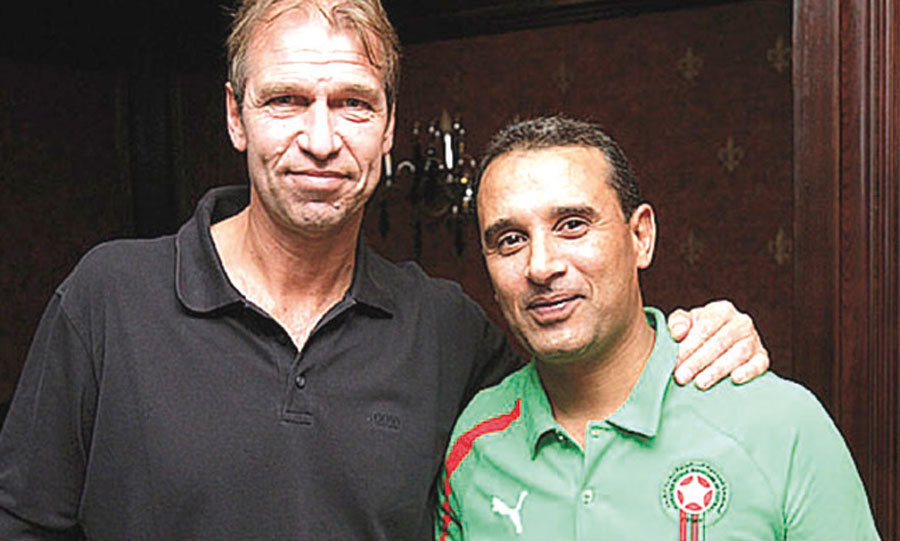 Hamidou Ouarga en compagnie de Pim Verbeek.