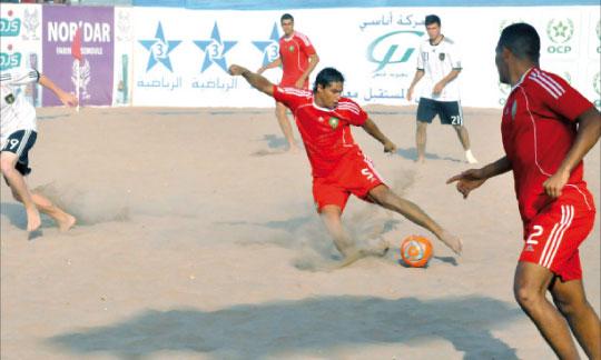 Une belle phase de jeu du match qui a opposé le Maroc à l'Allemagne.