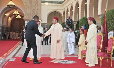 S.M. le Roi préside à Rabat une réception