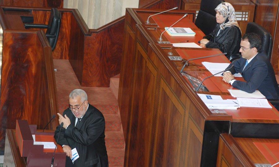 Abdelilah Benkirane, a présenté, devant la Chambre des représentants, les mesures du gouvernement pour faire face aux effets externes sur l'économie. (Photo : Hihi)