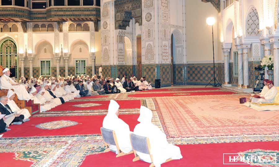 S.M. le Roi préside une nouvelle causerie  religieuse du mois  sacré de  Ramadan