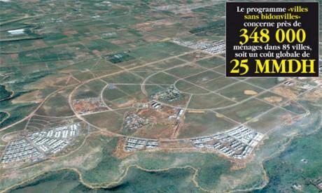 Le Maroc au premier rang mondial en matière de lutte contre les bidonvilles