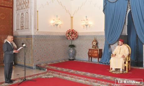 S.M. le Roi reçoit le président  du Conseil économique et social