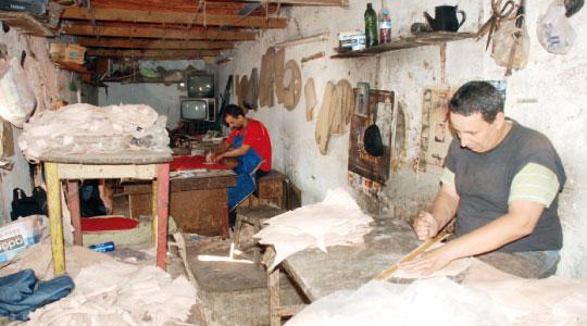 Le secteur de l'artisanat en perte de vitesse.