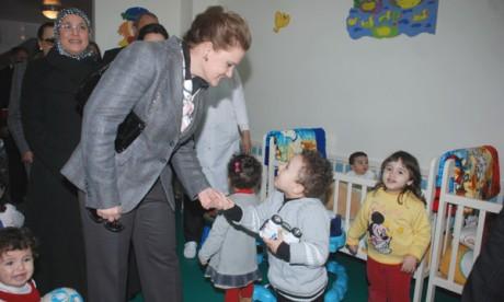 Son Altesse la Princesse Lalla Zineb préside la cérémonie d'inauguration de la garderie le «Nid»