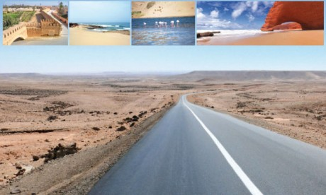 Sur la route du  Sud-Ouest marocain