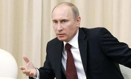 Message de S.M. le Roi au Président Poutine