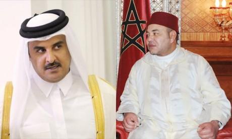 L'Emir de Qatar félicite S.M. le Roi Mohammed VI