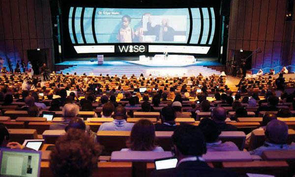 Une vue du Sommet mondial pour l'innovation de l'éducation (WISE) organisé  à Doha (Qatar).
