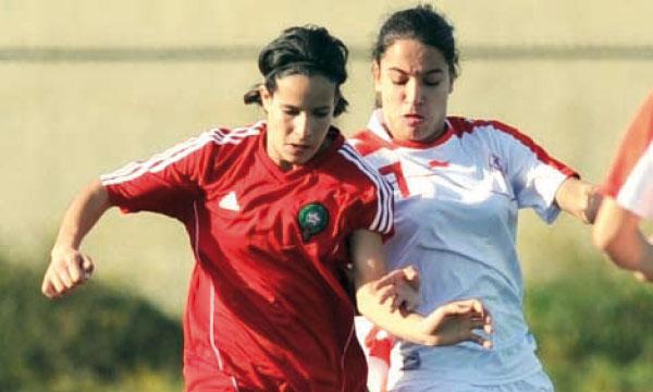 Une phase de jeu lors de la rencontre des U20 entre les équipes nationales marocaine et tunisienne.