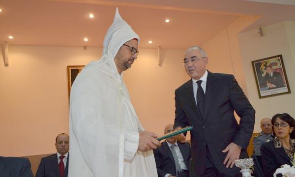 La cérémonie d'installation d'Ali Salem Chagaf, nouveau gouverneur de la préfecture de Mohammedia. Ph : Hihi