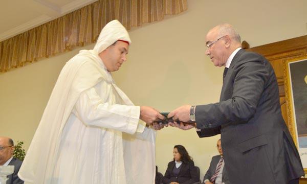 La cérémonie d'installation de Hicham M'Daghri Alaoui a été présidée par le ministre délégué auprès du ministre de l'Intérieur, Cherki Drais. Ph : Hihi