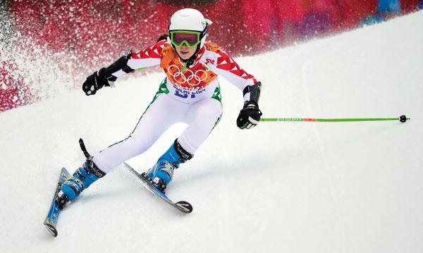 Kenza Tazi a inauguré la participation marocaine, avec une décevante 62e place au slalom géant.