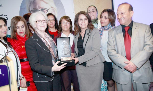 Sans faire entendre leurs voix, Aïcha Belarbi a soutenu que l'égalité et le respect des droits humains ne peuvent être concrétisés sans la participation effective des femmes à la vie politique. Ph : iisd.ca