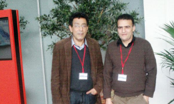 Dr Abdelhamid Barakat, chef de division des maladies non transmissibles, et Hassan Rouba, chef de service de génétique humaine et de biologie moléculaire.