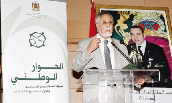 Ismail Alaoui, président de la Commission nationale du dialogue national  sur la société civile.