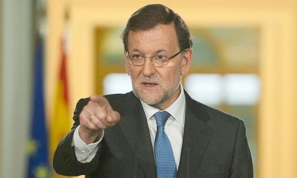 Le chef du gouvernement espagnol, Mariano Rajoy, a affirmé qu'il ne va pas permettre la tenue d'un référendum sur l'indépendance de la Catalogne.  Ph  : AFP