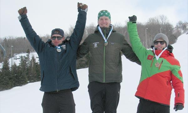 Le jeune skieur maroco-canadien, Adam Lamhamedi, s'est distingué lors de la compétition de slalom, en remportant une médaille de bronze. Ph : MAP