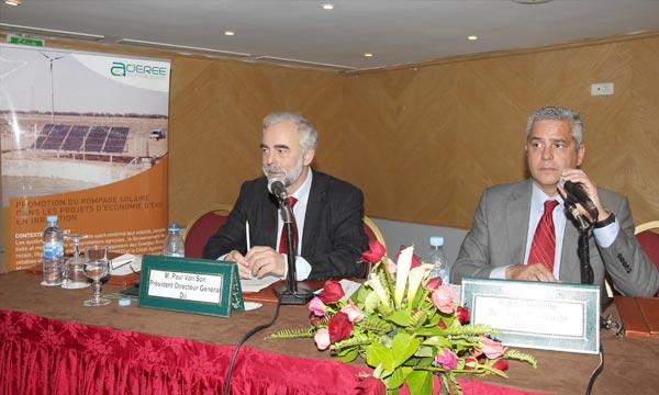 «Le Maroc à une carte à jouer pour exporter de l'électricité d'origine renouvelable vers l'Europe et donc avoir une recette énergétique», a précisé, Saïd Mouline,  directeur général de l'ADEREE. Ph : MAP