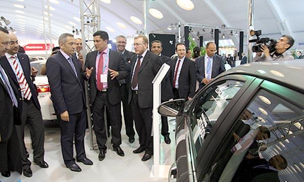 «L'Auto Expo met en exergue l'évolution du secteur dans ses diverses composantes en dévoilant notamment les nouveautés et permet l'accélération de la commercialisation des véhicules», a souligné, Moulay Hafid El Alamy. Ph : MAP