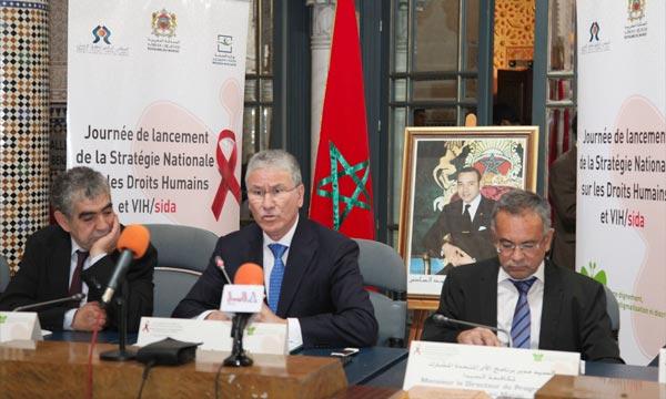 Le ministère de la Santé a lancé, à Rabat, la stratégie nationale sur les droits humains et le VIH-Sida, en partenariat avec le CNDH.La stratégie vise à accompagner le plan, adopté pour la lutte durant la période 2012-2016. Ph : MAP