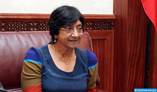La Haut-Commissaire des Nations-Unies aux droits de l'Homme, Navi Pillay en visite au Royaume.