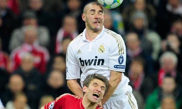 La bataille sera acharnée entre le Français Karim Benzema et l'Allemand Thomas Müller. Ph  : AFP