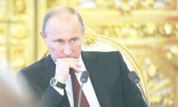 «Nous devons commencer des discussions substantielles sur des questions touchant à l'organisation politique de la société et la création d'un État pour le sud-est de l'Ukraine», a déclaré Vladimir Poutine.