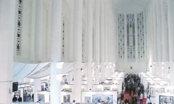 La précédente édition du Salon national d'art contemporain s'était déroulée à l'ancienne église du Sacré-Cœur à Casablanca.
