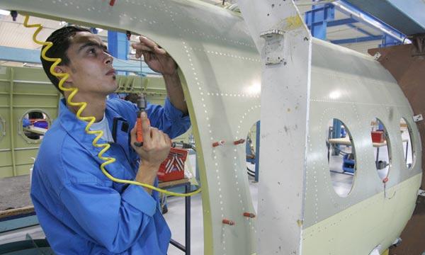 L'industrie aéronautique au Maroc se trouve parmi les secteurs clés potentiels de la stratégie de développement telle que définie dans le Pacte national pour l'émergence industrielle. Ph : AFP
