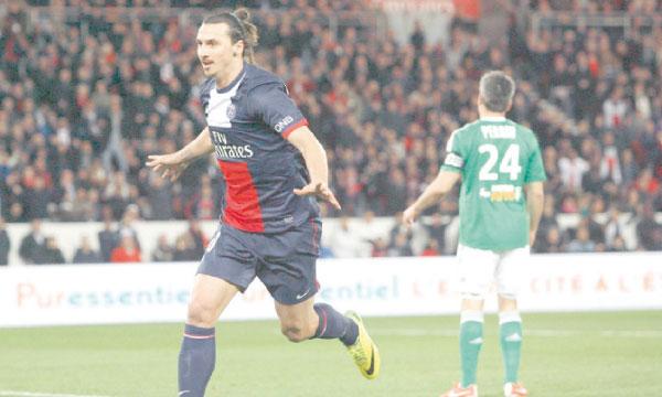 Le retour de Zlatan Ibrahimovic dans le Onze de départ parisien a été dûment fêté par un triplé de la star suédoise.