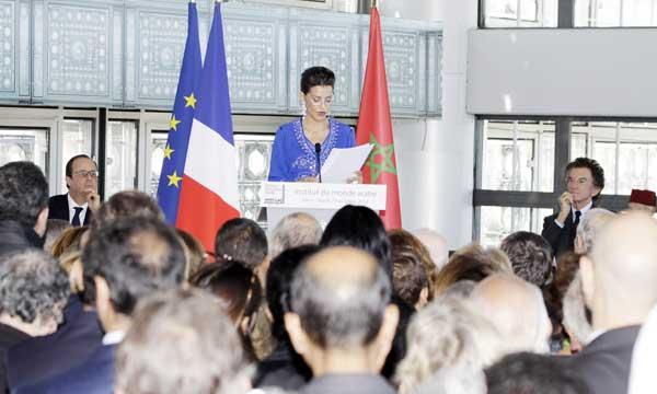 S.A.R. la Princesse Lalla Meryem et le Président français inaugurent  à Paris l'exposition-événement «Le Maroc contemporain»