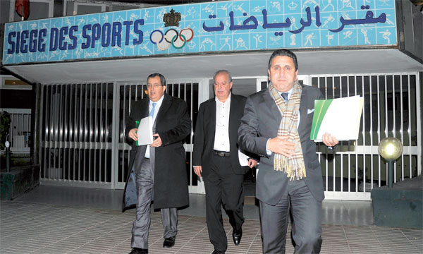 Rachid Ouali Alami (à droite) aura la lourde tâche de redresser le MAS financièrement. Ph. Archives