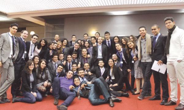 Une équipe motivée pour réussir le défi du Forum.
