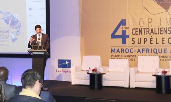 Le ministre délégué chargé des Petites entreprises et de l'Intégration du secteur informel, Mamoune Bouhdoud, s'exprimant, lors du 4e Forum Centralien Supélec. Ph : MAP
