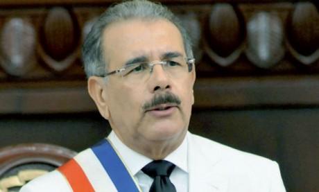 Message de félicitations  de S.M. le Roi au Président  de la République dominicaine